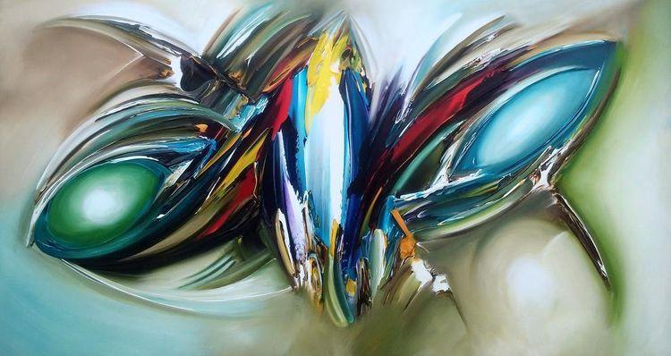 Abstrakt, Modern, Fantasie, Nebel, Malerei