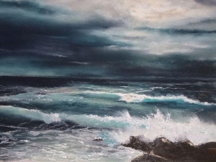 Meer, Landschaft, Malerei, Wasser, Mar