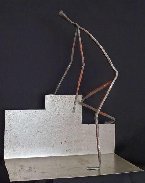 Metall, Eisen geschmiedet, Skulptur, Plastik, Weite