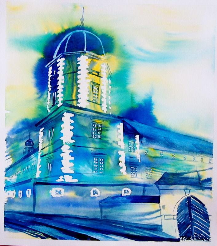 Bild aquarell architektur von thomas wojtalik bei kunstnet for Architektur aquarell