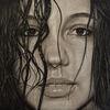 Portrait, Zeichnung, Menschen, Frau