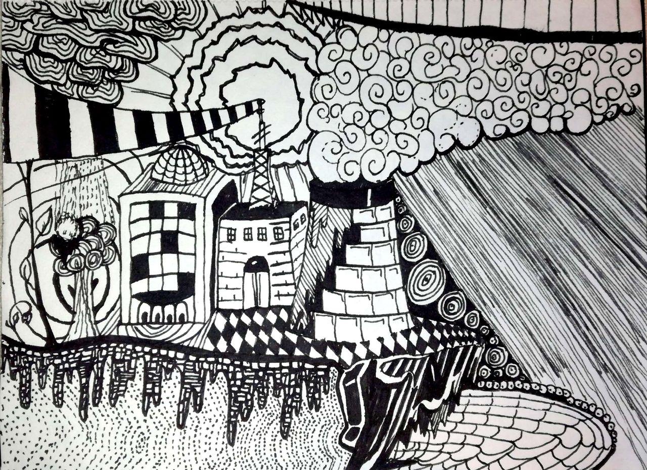 bild doodle art abstrakt schwarz wei von marius hansen bei kunstnet. Black Bedroom Furniture Sets. Home Design Ideas