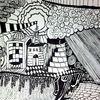 Abstrakt, Schwarz weiß, Zeichnungen,
