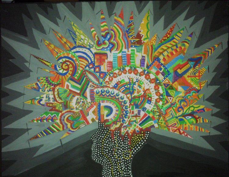 Bunt, Abstrakt, Malerei, Gedanken