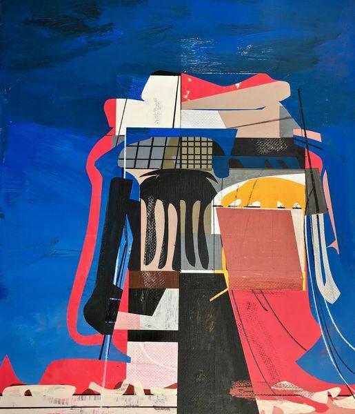 Metaphysisch, Rätsel, Technik, Technologie, Abstrakt maleri, Zeitgenössisch
