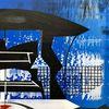 Acrylmalerei, Futurismus, Technologie, Zeitgenössisch