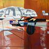 Acrylmalerei, Futurismus, Abstrakt, Luft
