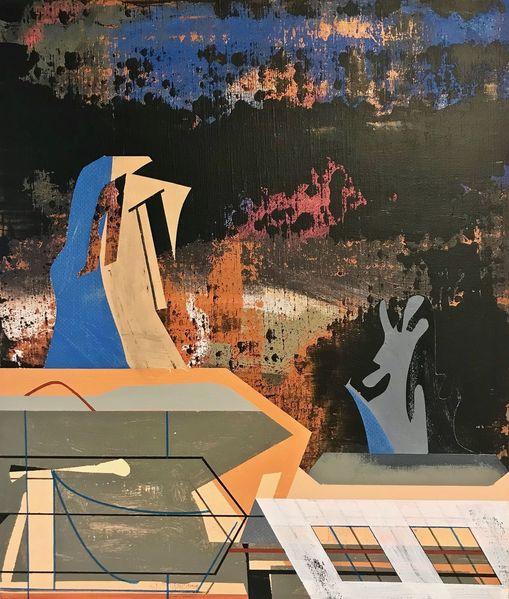 Zeitgenössisch, Nebula, Avantgarde, Abstrakt maleri, Orbit, Metaphysisch