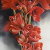 Blumen, Pflanzen, Amaryllis, Aquarell
