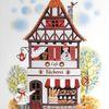 Illustration, Sommer, Bäckerei, Aquarell