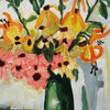 Landschaft, Blumen, Acrylmalerei, Malerei