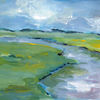 Landschaft, Malerei, Acrylmalerei
