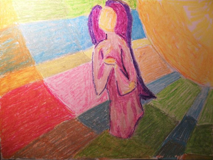Rechteck, Engel, Engelfigur, Sonne, Malerei