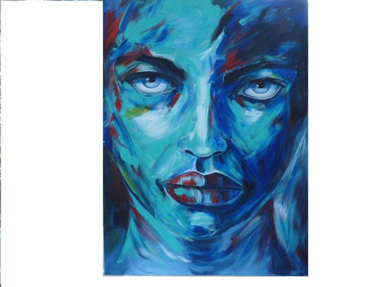 Augen, Bunt, Frau, Menschen, Gesicht, Portrait