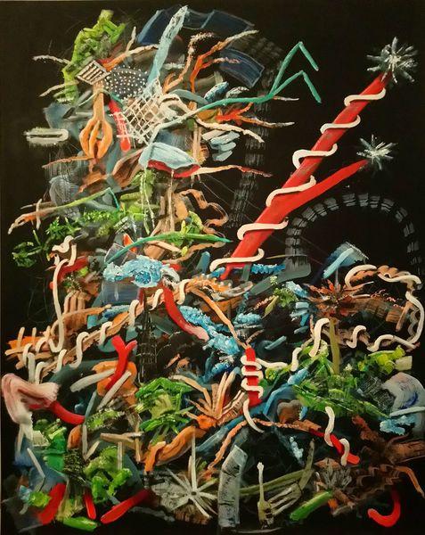 Kontrast, Chaos, Komplexität, Fantasie, Gestisch, Ölmalerei