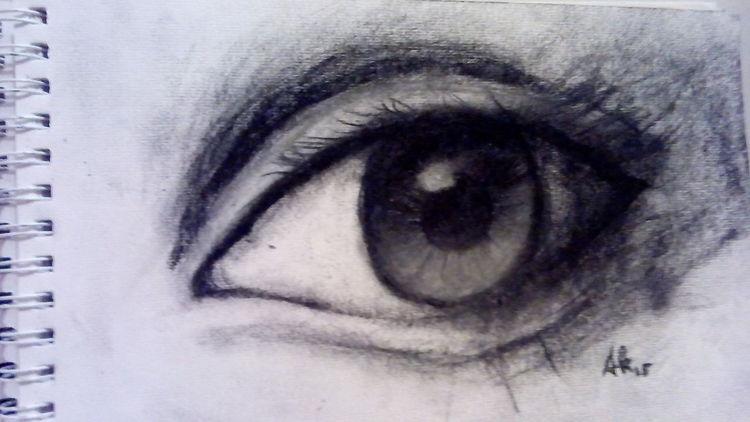Bleistiftzeichnung, Kohlezeichnung, Schwarz, Zeichnungen,