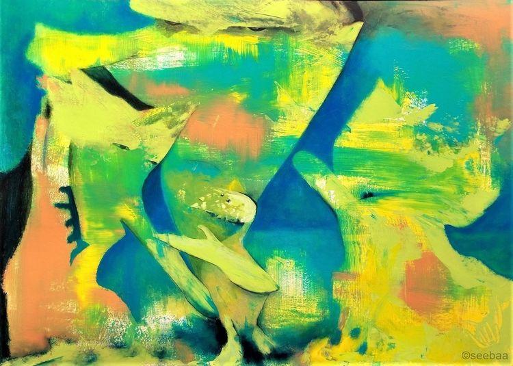 Landschaft, Fuß, Malerei, Willkommen
