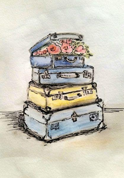 Frühling, Malerei, Nostalgie, Violett, Gelb, Landhaus