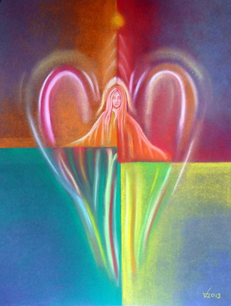 Bunt, Engel, Malerei