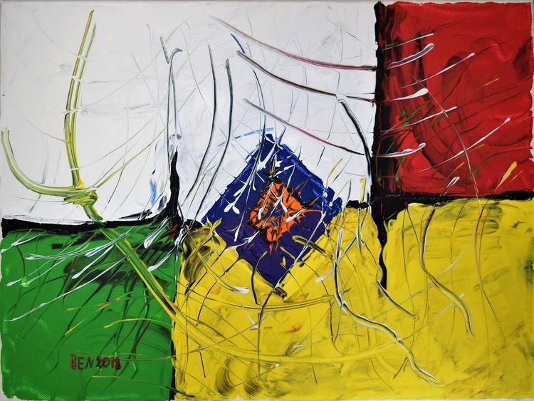 Abstrakt, Acrylmalerei, Farben, Malerei