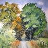 Schatten, Hattingen, Baum, Aquarell