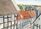 Himmel, Fachwerk, Hattingen, Altstadt