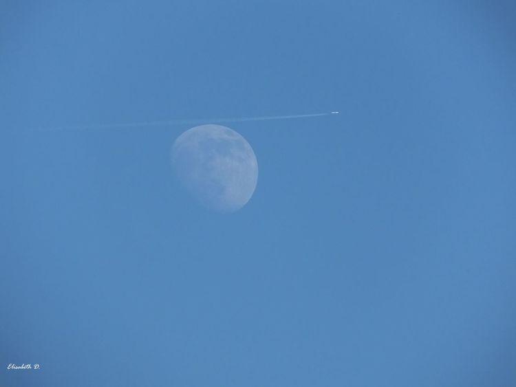 Blau, Luft, Flughafen, Flugzeug, Mond, Fliegen