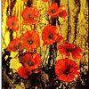 Surreal, Rose, Ölmalerei, Grün