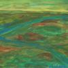 Abstrakt, Himmel, Acrylmalerei, Grün