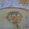 Kopf, Sonne, Gesicht, Landschaft