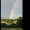 Himmel, Farbspektrum, Regenbogen, Landschaft