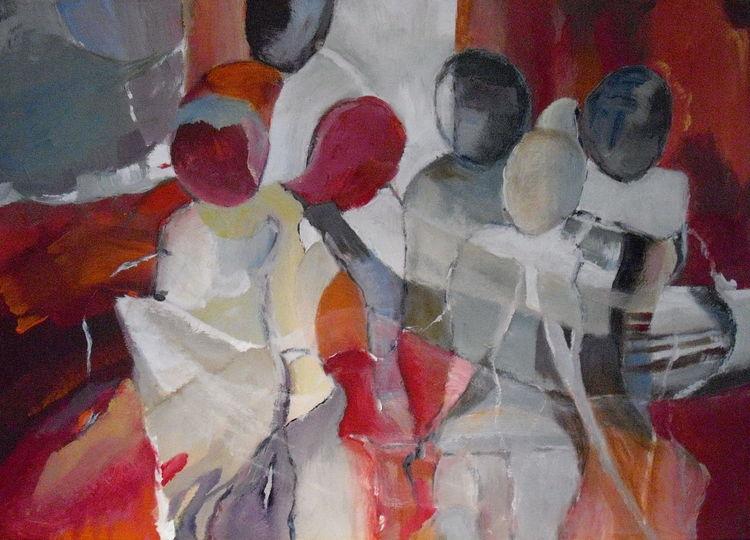 Bewegung, Abstrakt, Raum, Menschen, Malerei