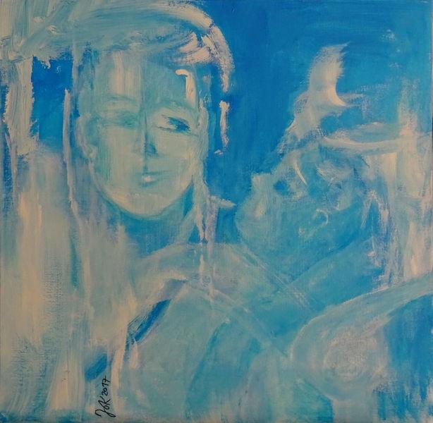 Kind, Frau, Mutter, Malerei