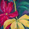 Rot, Blüte, Gelb, Blätter