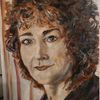 Portrait, Wenig farben, Malerei,