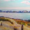 Berge, Meer, Strand, Malerei