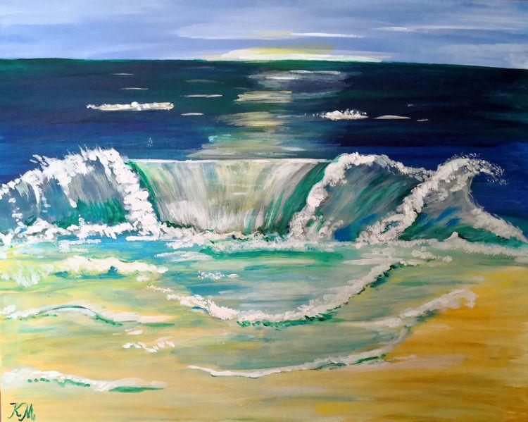 Wasser, Meer, Malerei, Welle,