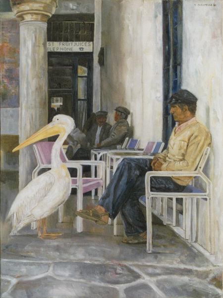 Malerei, Pelikan,