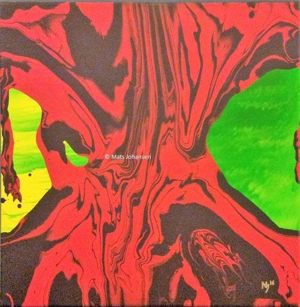 Hölle, Baum, Tod, Rot, Malerei