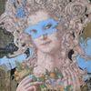 Karneval, Frauengestalt, Maske, Barock
