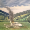 Himmel, Wiese, Landschaft, Malerei