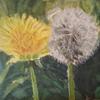 Blumen, Landschaft, Grün, Malerei