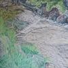 Wasser, Wasserfall, Teich, Malerei