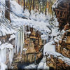 Felsen, Eis, Klamm, Schnee