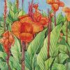 Aquarellmalerei, Lilien, Aquarell,