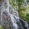 Wald, See, Stein, Wasserfall