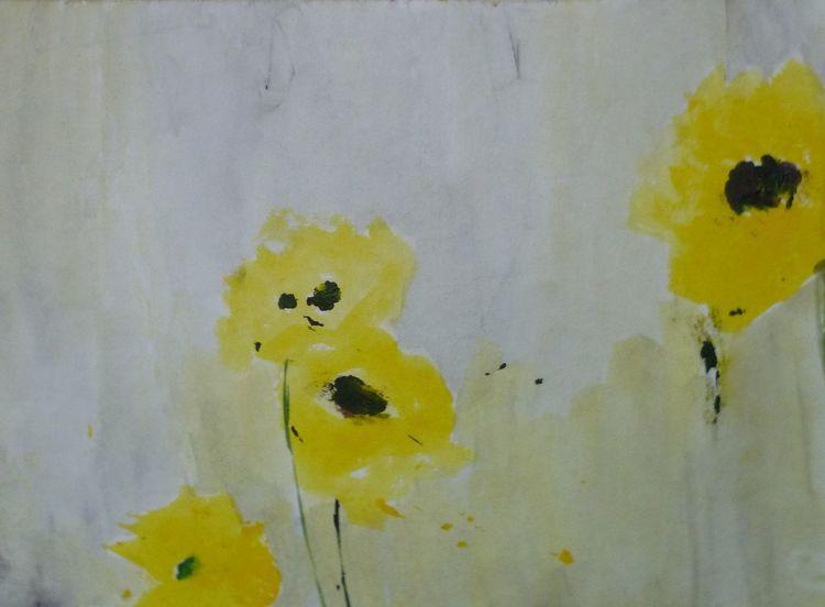 Blumen, Schnell, Aquarell,
