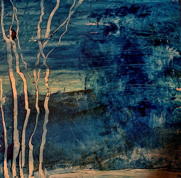Abstrakt, Steinpapier, Fantasie, Landschaft, Malerei