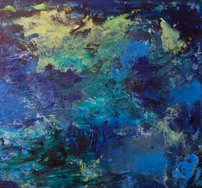 Ausschnitt, Malerei, Abstrakt, Spachelarbeit, Weg
