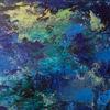 Malerei, Abstrakt, Spachelarbeit, Ausschnitt